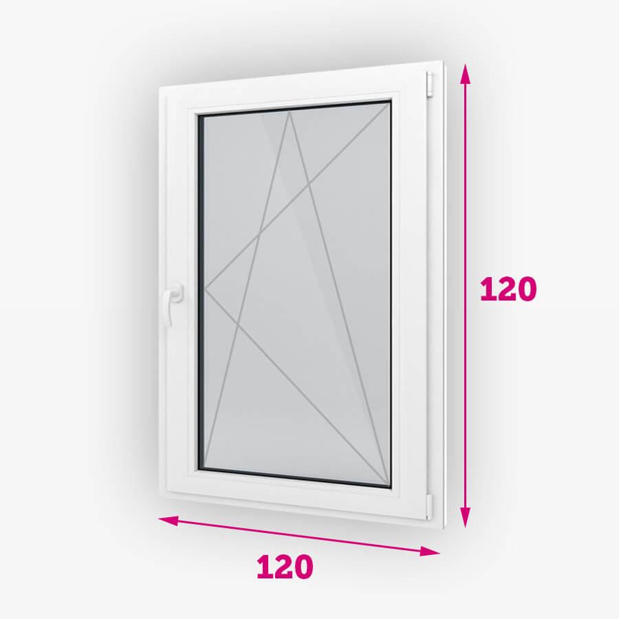 Bukó-nyíló műanyag ablak 120x120cm