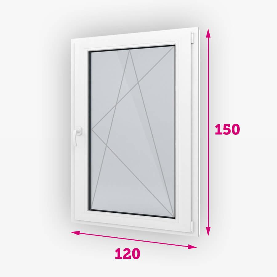 Bukó-nyíló műanyag ablak 120x150cm