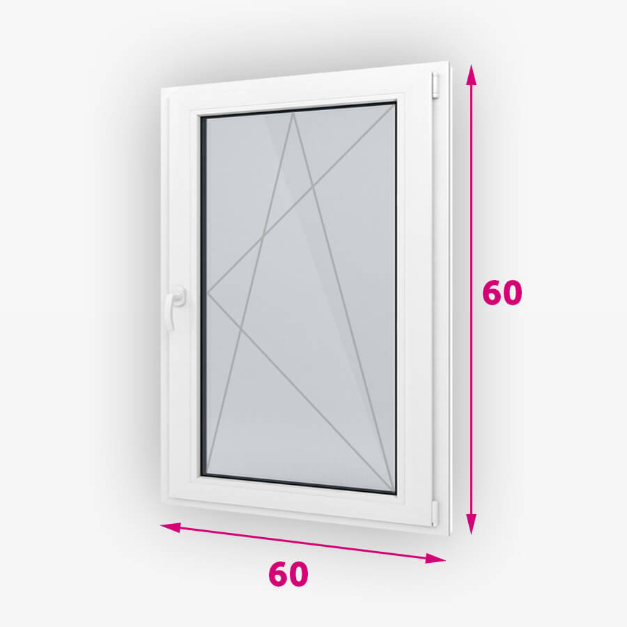 Bukó-nyíló műanyag ablak 60x60cm