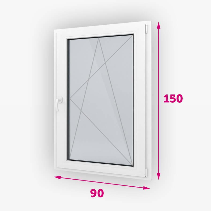 Bukó-nyíló műanyag ablak 90x150cm