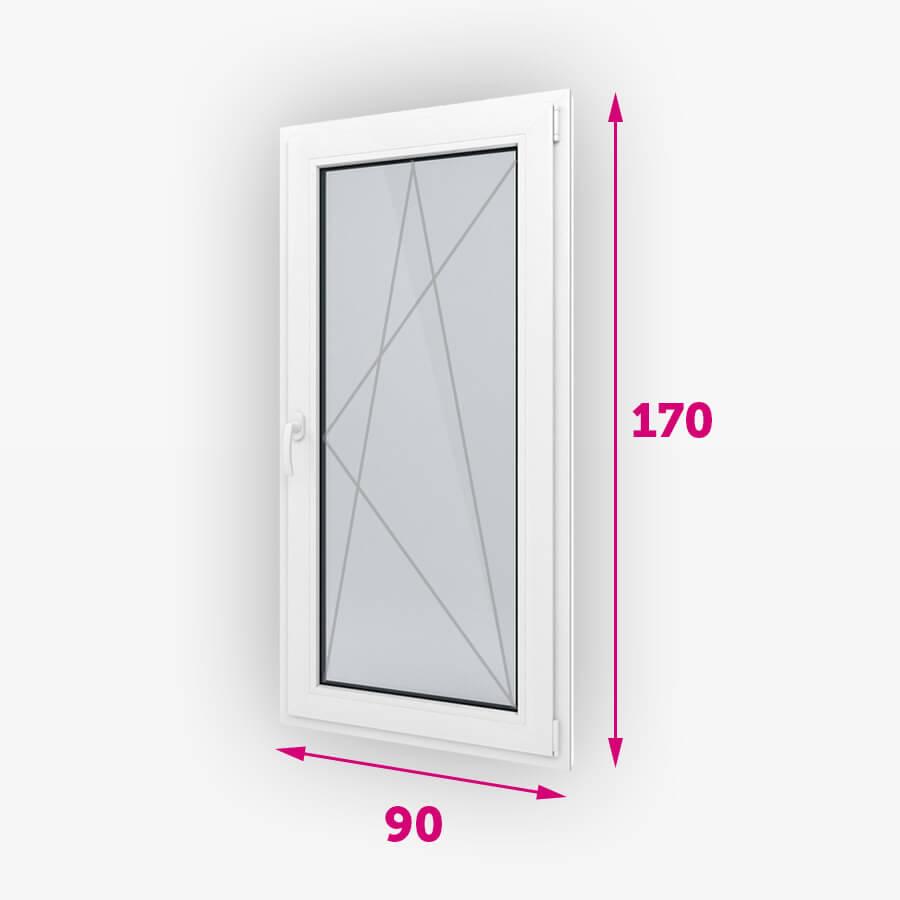 Tilt-turn plastové okná 90x170cm