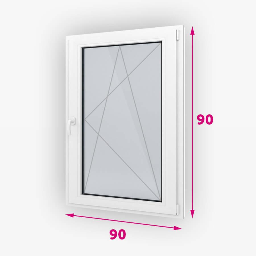 Tilt-turn plastové okná 90x90cm