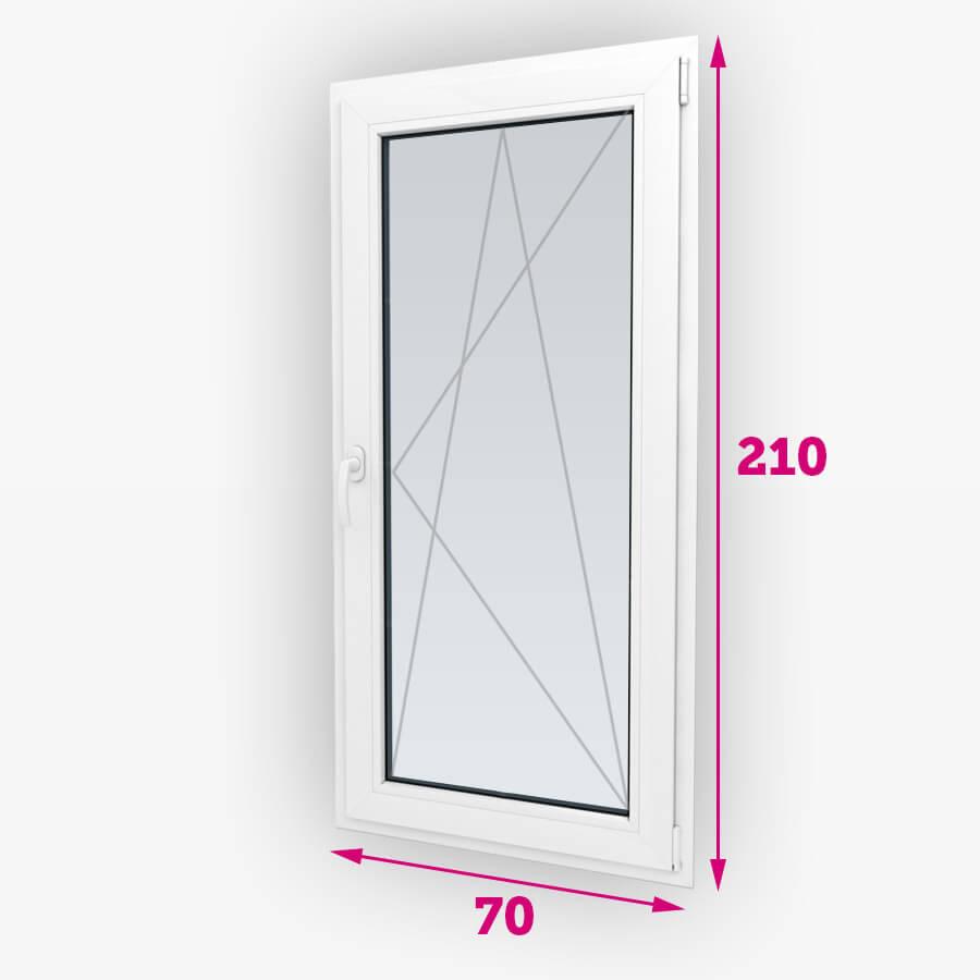 Sklopná plastové balkónové dvere 70x210cm