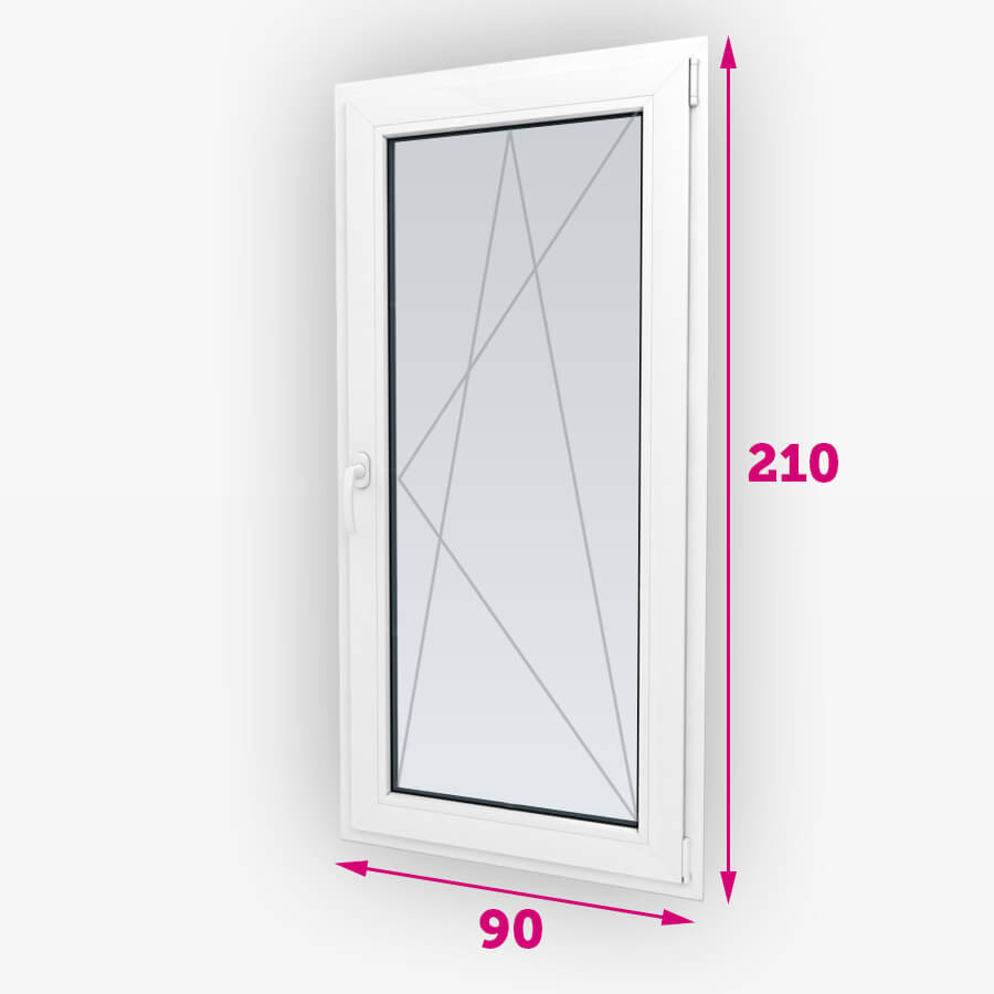 Sklopná plastové balkónové dvere 90x210cm