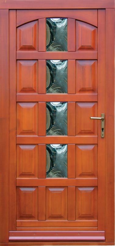 Kétszárnyú fa bejárati ajtó
