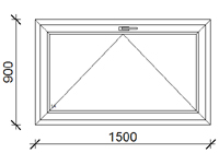 150x90 cm műanyag ablak