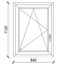 84x112 cm műanyag ablak