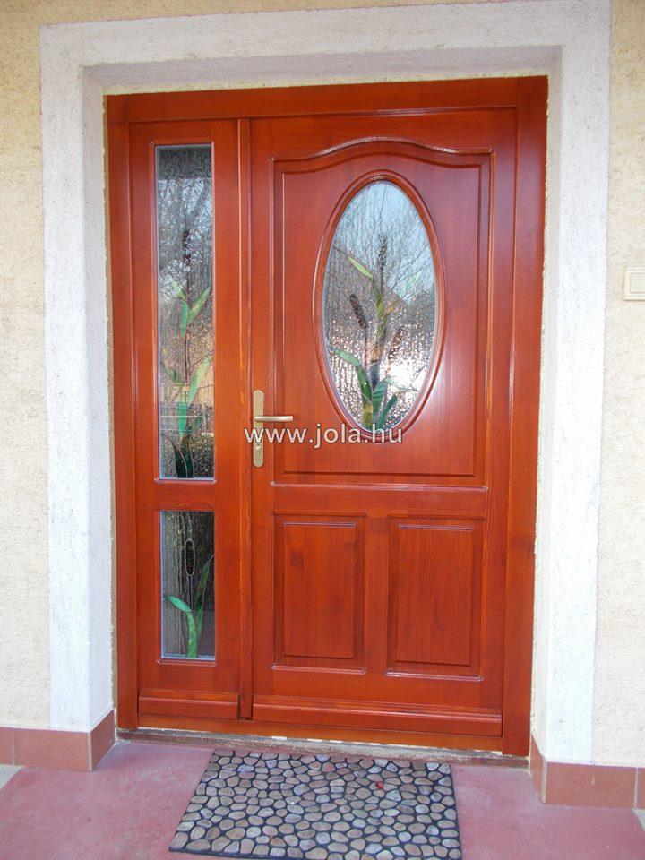 Kétszárnyú bejárati ajtó fa