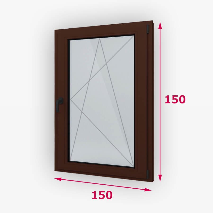 Bukó-nyíló fa ablak 150x150cm