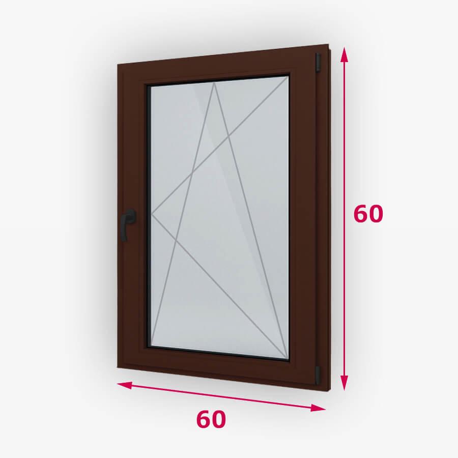 Bukó-nyíló fa ablak 60x60cm