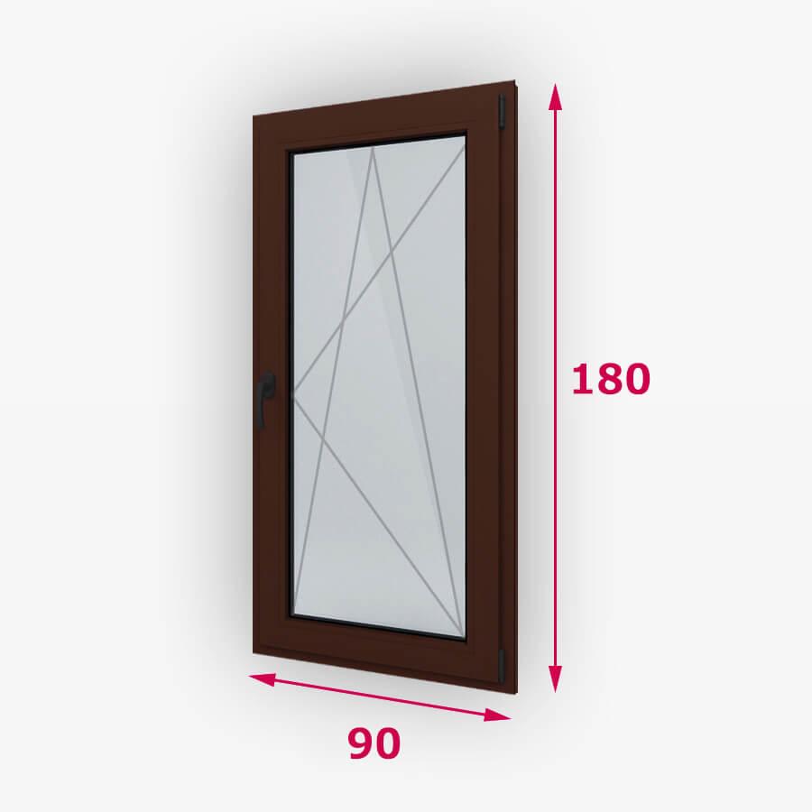 Bukó-nyíló fa ablak 90x180cm