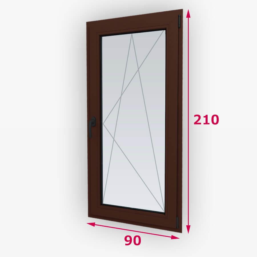 Bukó-nyíló fa erkély ajtó 90x210cm