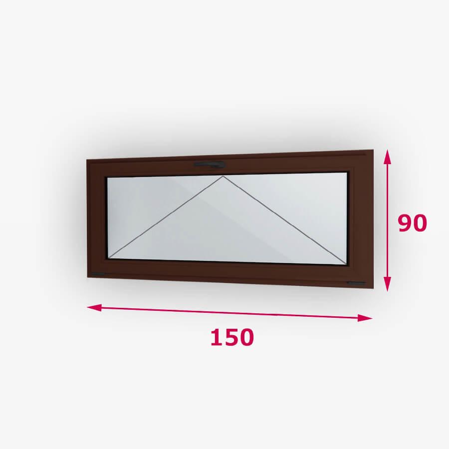 Bukó fa ablak 150x90cm