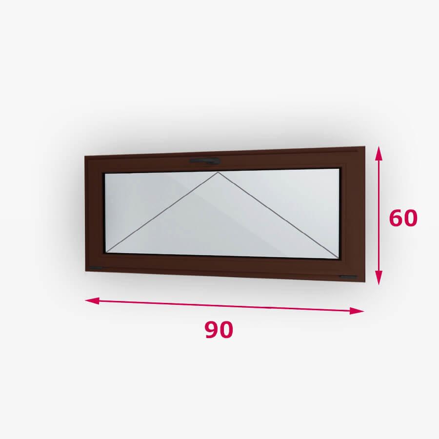 Bukó fa ablak 90x60cm