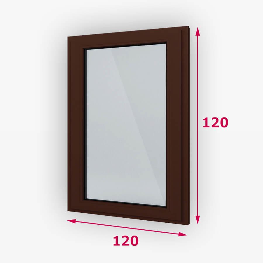 Fix fa ablak 120x120cm