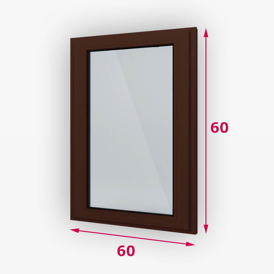 Fix fa ablak 60x60cm