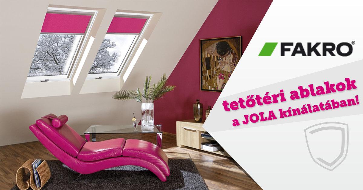 Fakro tetőtéri ablakok és padlásfeljárók a Jola kínálatában!