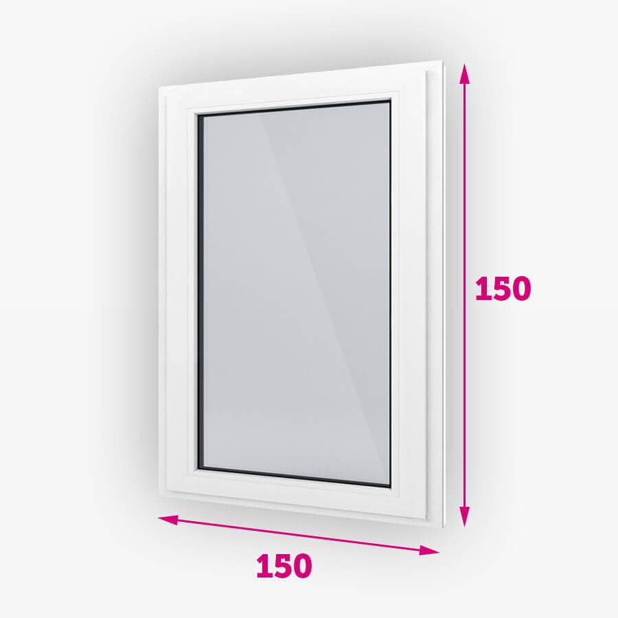 Pevná plastové okná 150x150cm