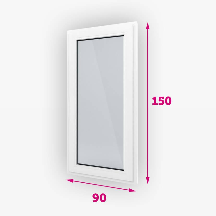 Pevná plastové okná 90x150cm