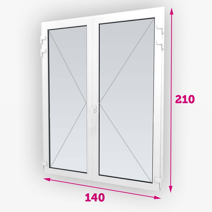Plastové balkónové dvere 140x210cm