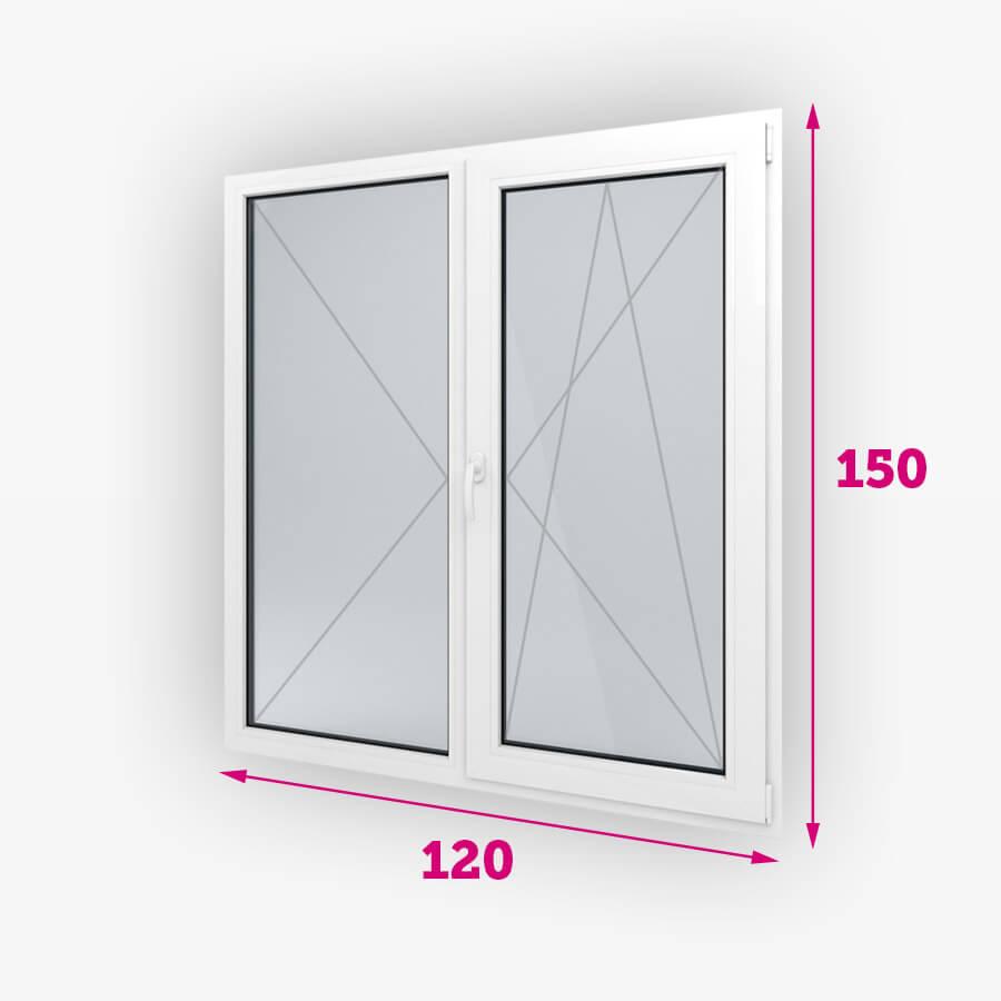 Dvojité plastové okná 120x150cm