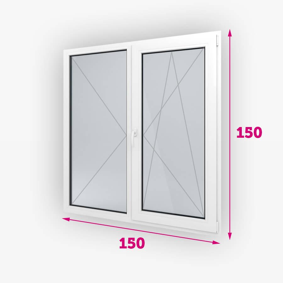 Dvojité plastové okná 150x150cm